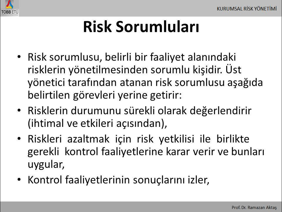 Risk Sorumluları