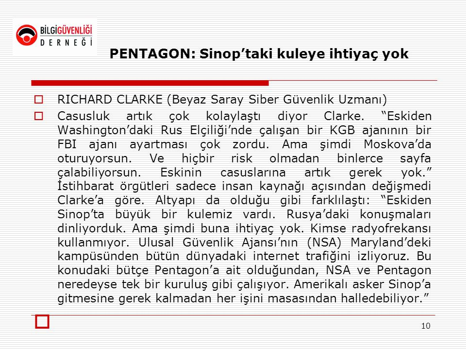 PENTAGON: Sinop'taki kuleye ihtiyaç yok