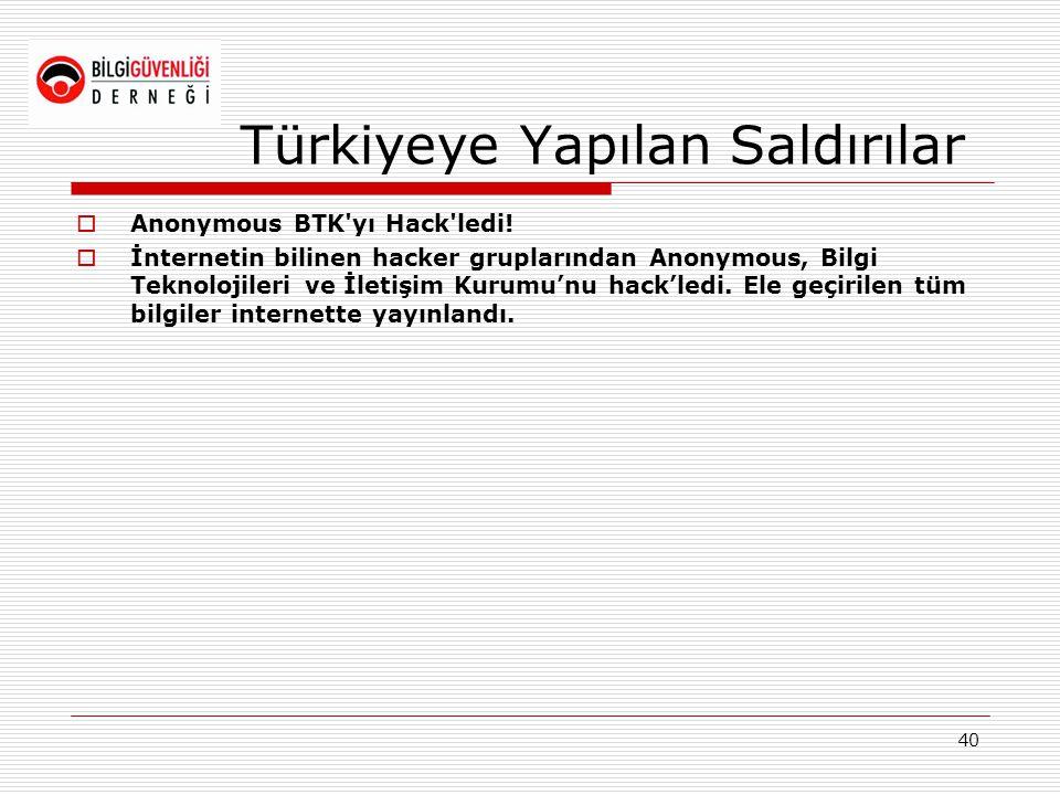 Türkiyeye Yapılan Saldırılar