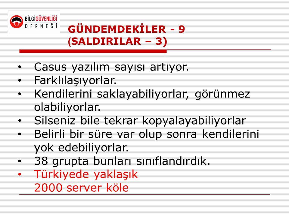 GÜNDEMDEKİLER - 9 (SALDIRILAR – 3)