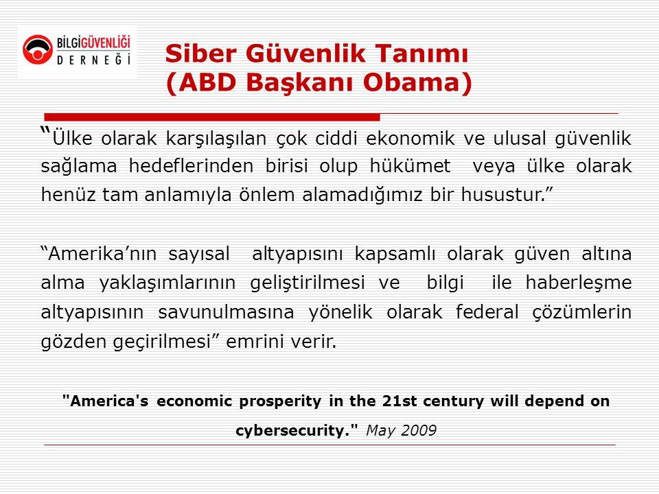 Siber Güvenlik Tanımı (ABD Başkanı Obama)