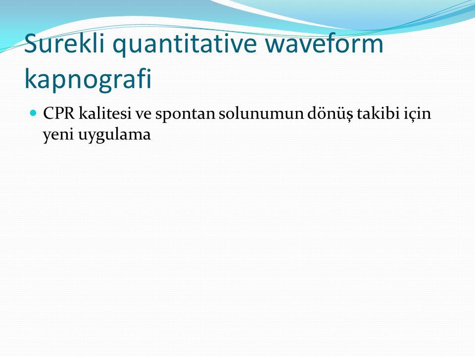 Surekli quantitative waveform kapnografi