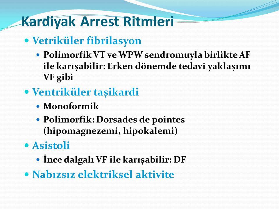 Kardiyak Arrest Ritmleri
