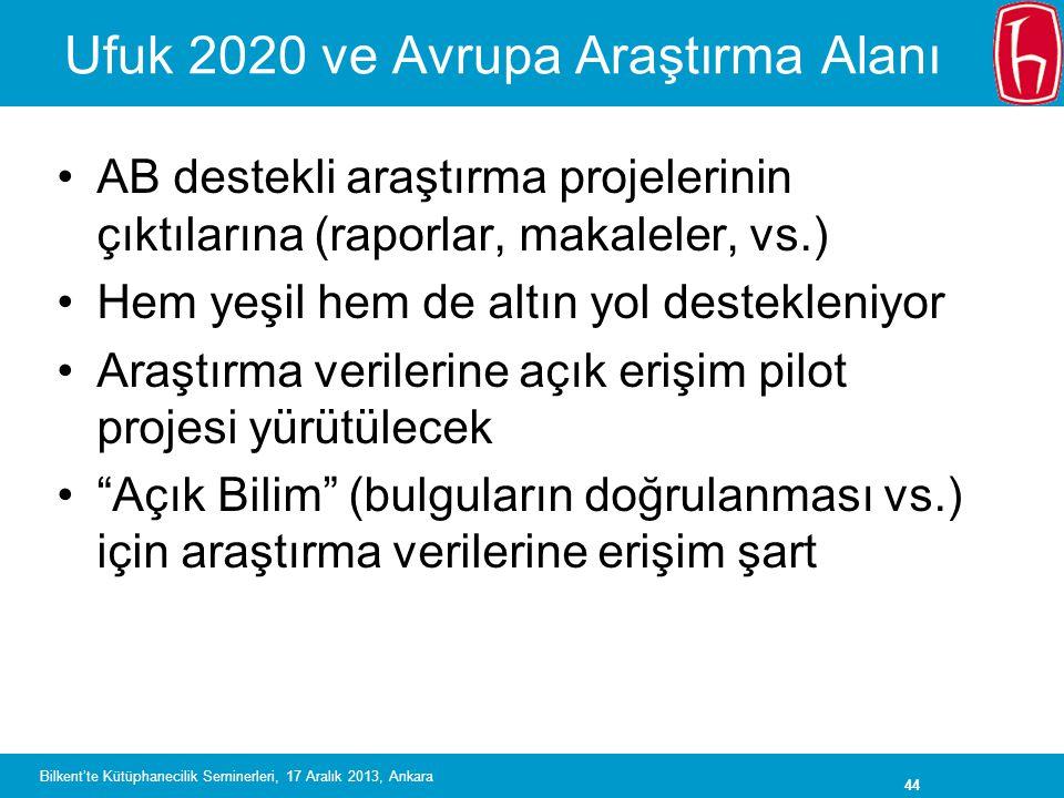 Ufuk 2020 ve Avrupa Araştırma Alanı