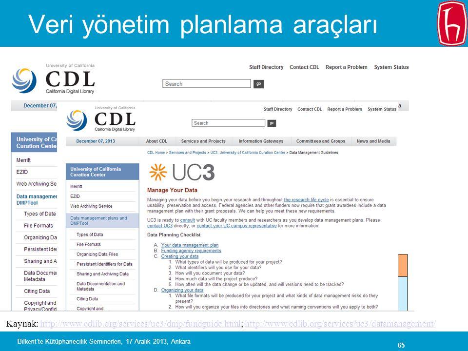 Veri yönetim planlama araçları