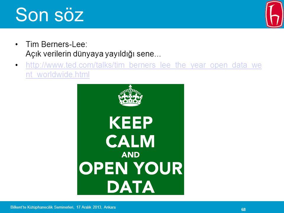 Son söz Tim Berners-Lee: Açık verilerin dünyaya yayıldığı sene...