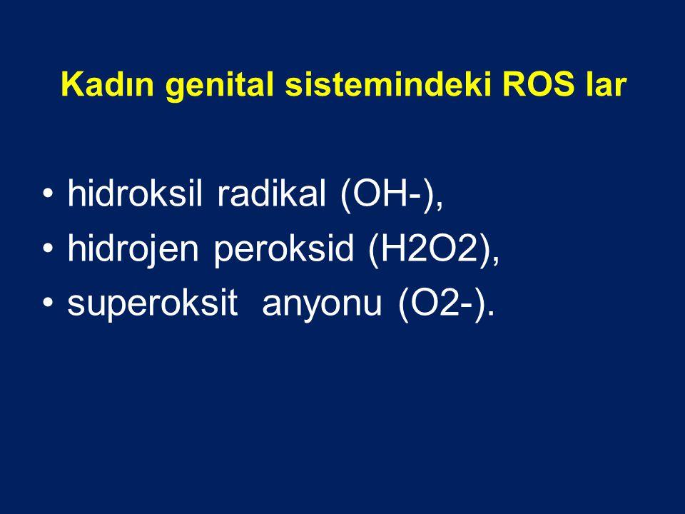 Kadın genital sistemindeki ROS lar