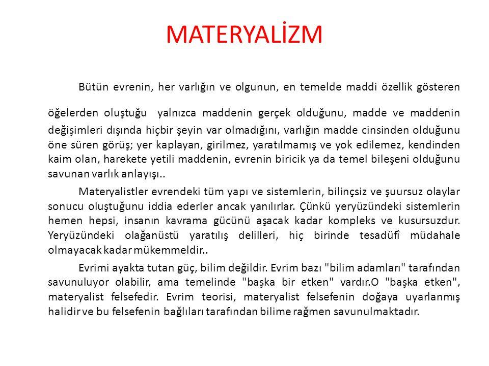 MATERYALİZM