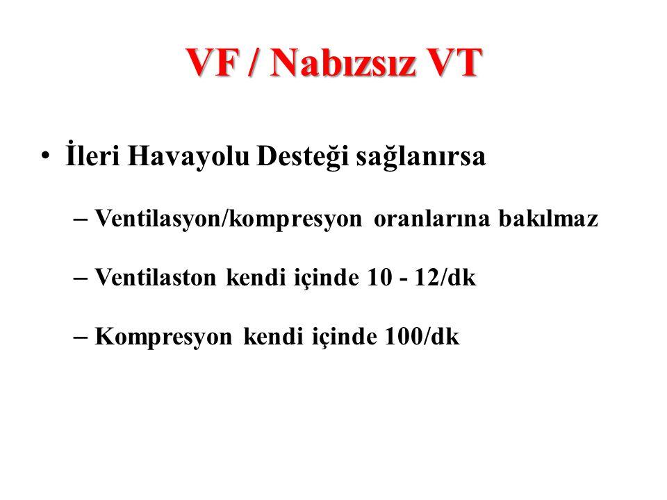 VF / Nabızsız VT İleri Havayolu Desteği sağlanırsa