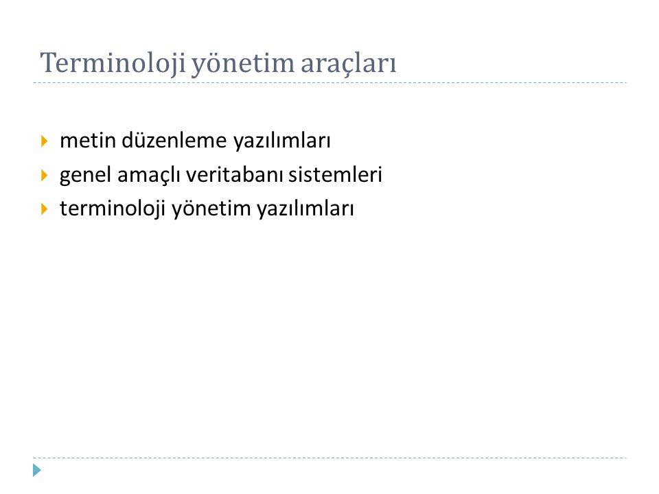 Terminoloji yönetim araçları
