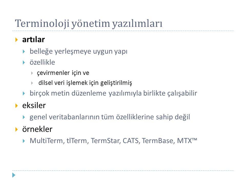 Terminoloji yönetim yazılımları