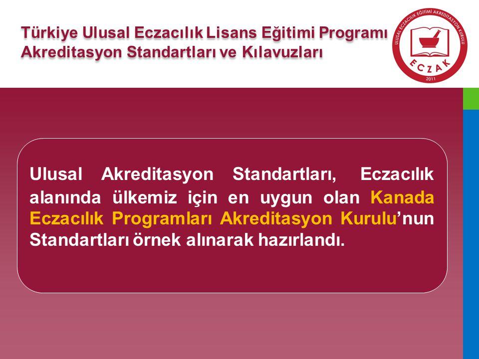 Türkiye Ulusal Eczacılık Lisans Eğitimi Programı Akreditasyon Standartları ve Kılavuzları