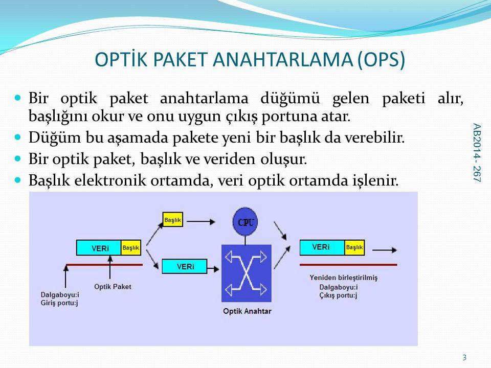 OPTİK PAKET ANAHTARLAMA (OPS)