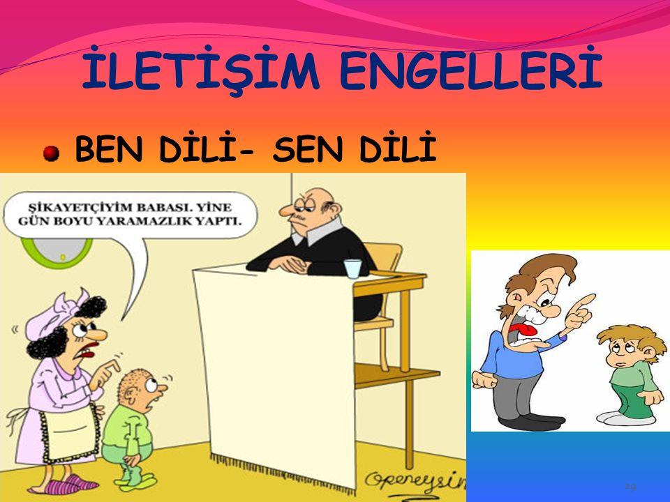 İLETİŞİM ENGELLERİ BEN DİLİ- SEN DİLİ