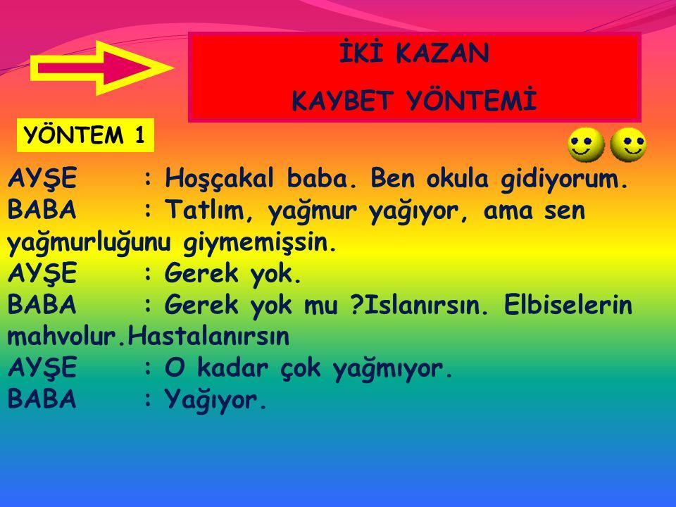 İKİ KAZAN KAYBET YÖNTEMİ