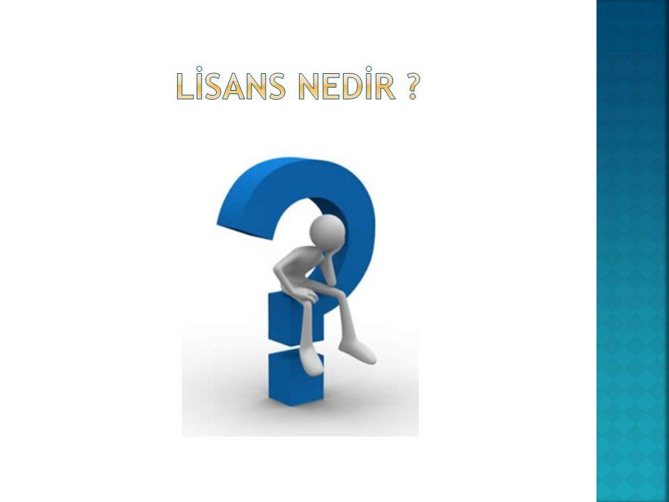LİSANS NEDİR