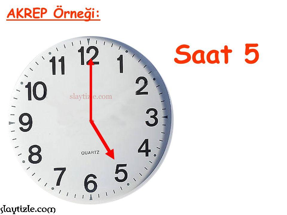 AKREP Örneği: Saat 5