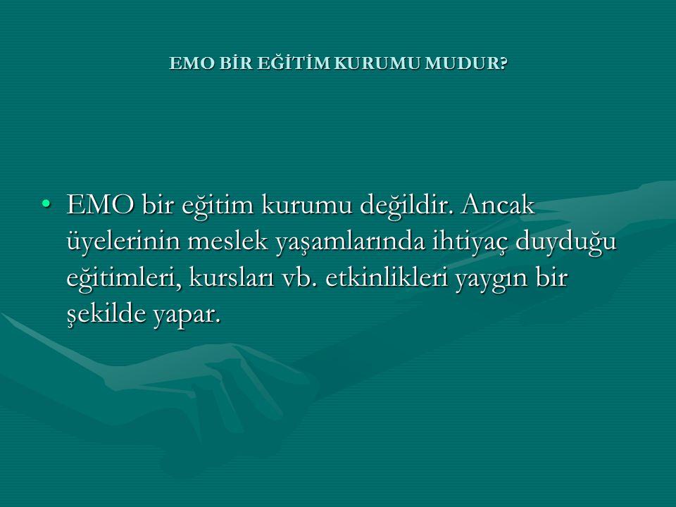 EMO BİR EĞİTİM KURUMU MUDUR