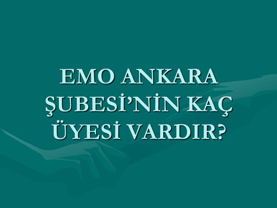 EMO ANKARA ŞUBESİ'NİN KAÇ ÜYESİ VARDIR