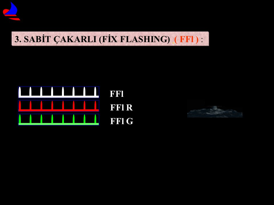 3. SABİT ÇAKARLI (FİX FLASHING) ( FFl ) :