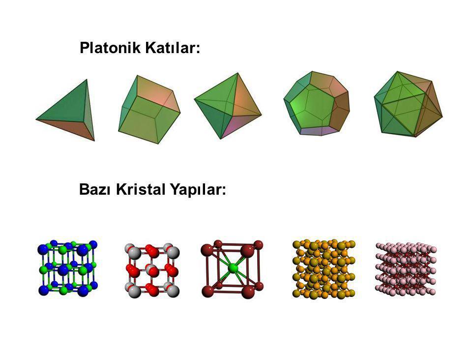 Platonik Katılar: Bazı Kristal Yapılar: