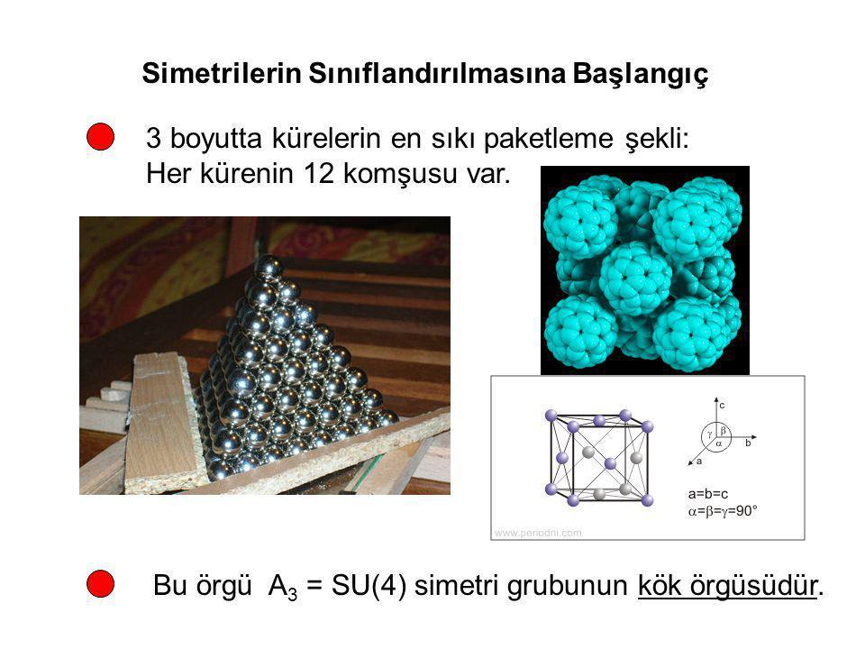 Simetrilerin Sınıflandırılmasına Başlangıç