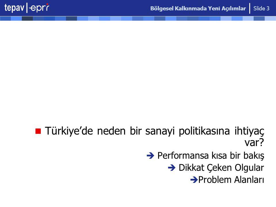 Türkiye'de neden bir sanayi politikasına ihtiyaç var