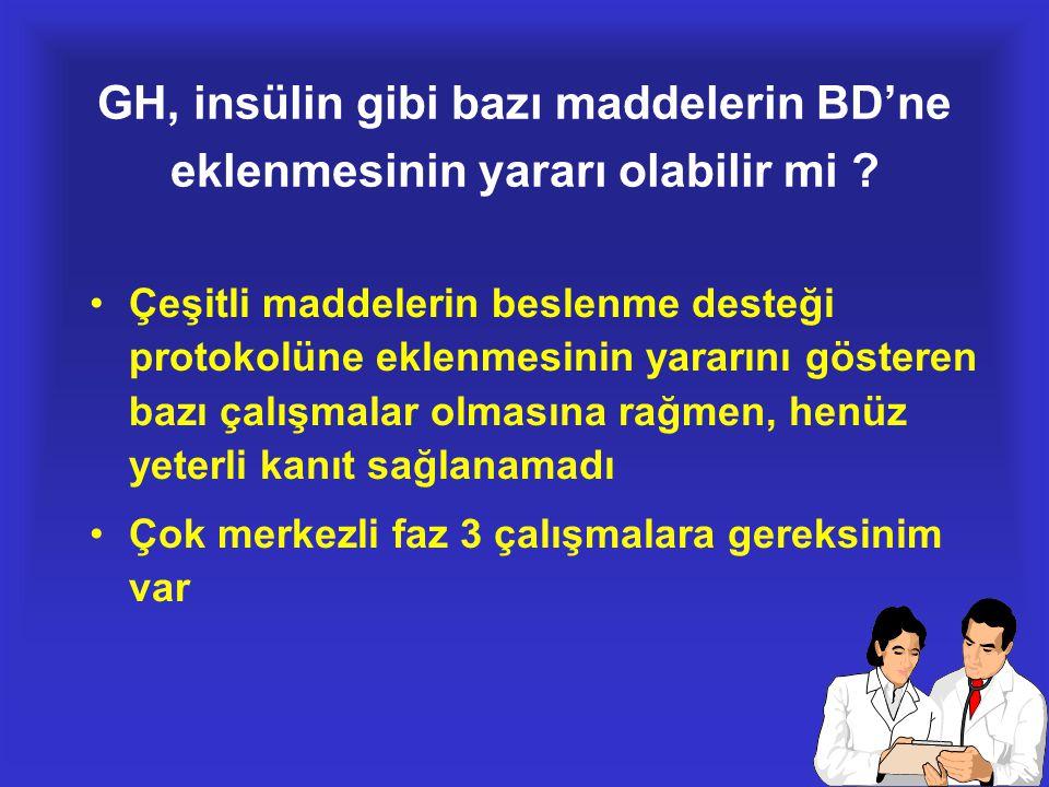 GH, insülin gibi bazı maddelerin BD'ne eklenmesinin yararı olabilir mi