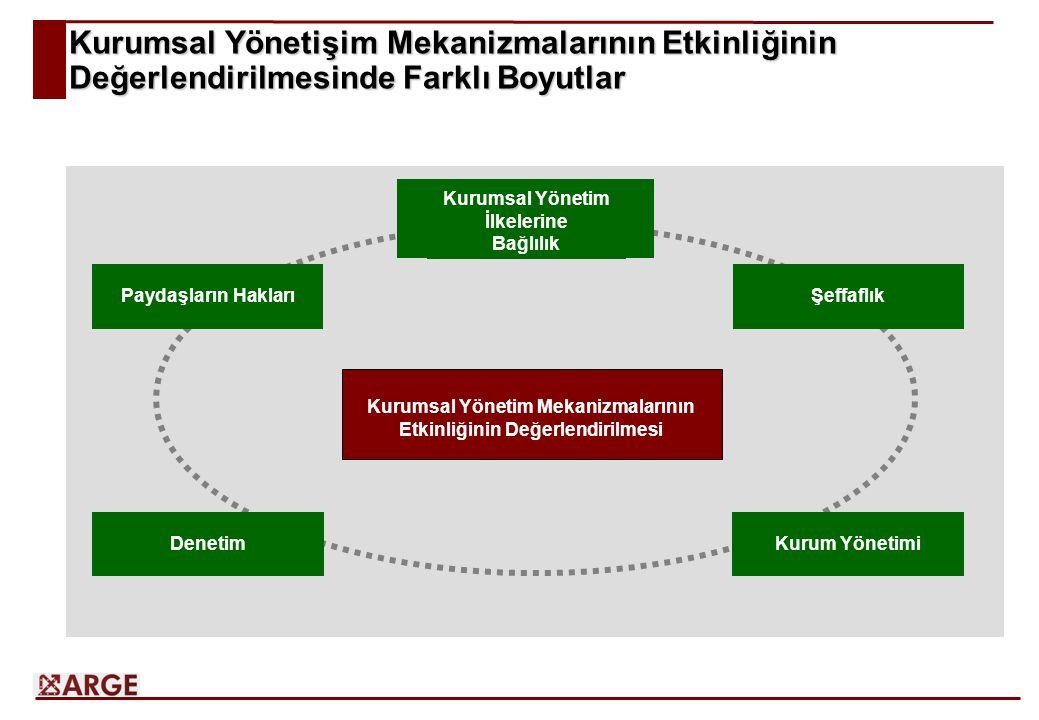 Kurumsal Yönetişim Mekanizmalarının Etkinliğinin Değerlendirilmesinde Farklı Boyutlar