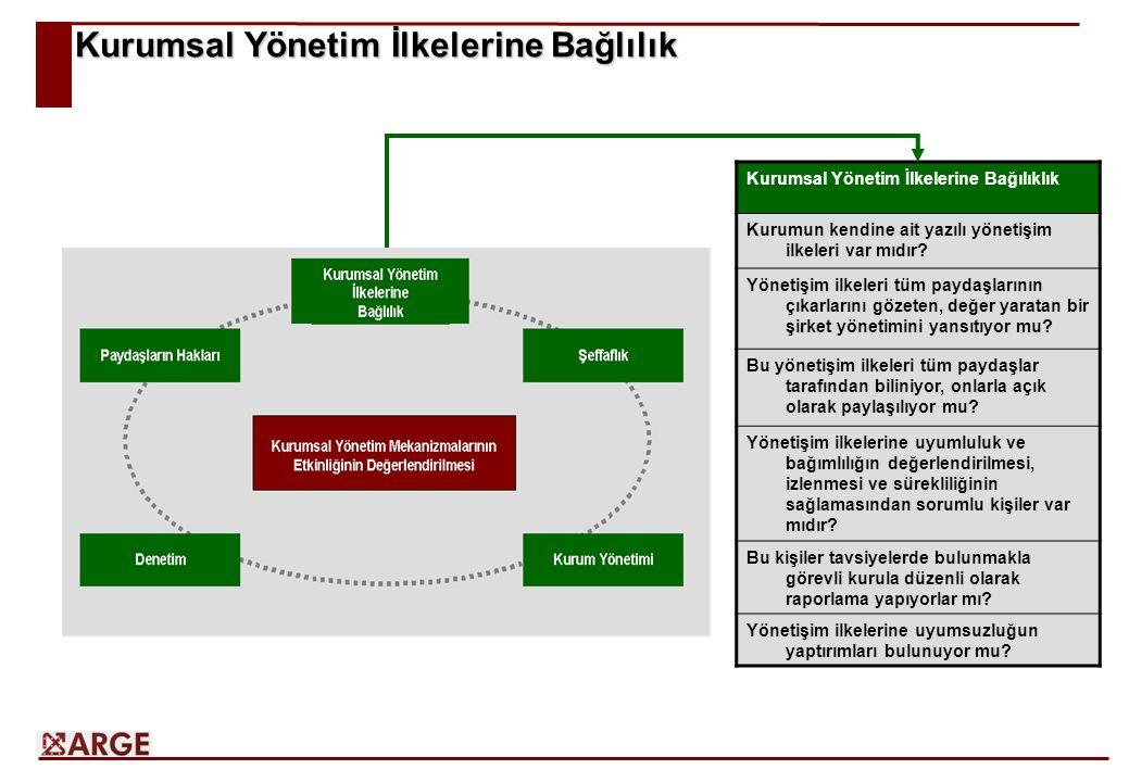 Kurumsal Yönetim İlkelerine Bağlılık