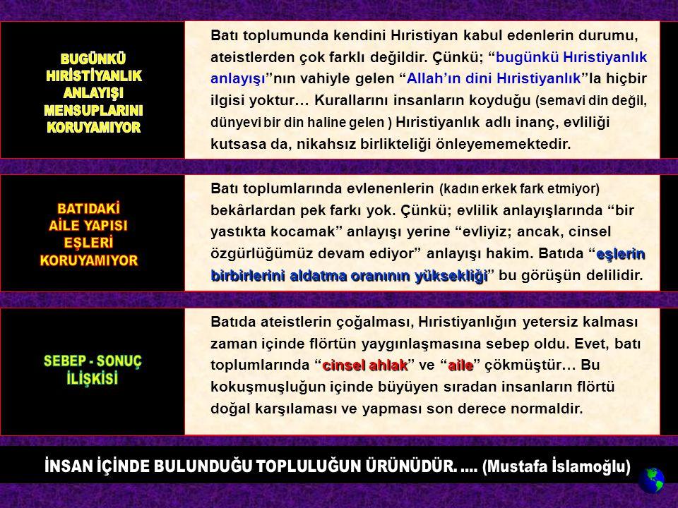 İNSAN İÇİNDE BULUNDUĞU TOPLULUĞUN ÜRÜNÜDÜR. .... (Mustafa İslamoğlu)