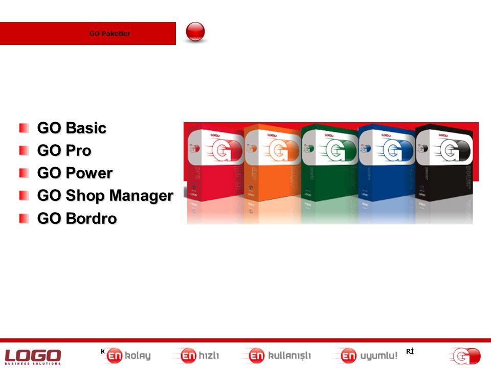 GO Paketler GO Basic GO Pro GO Power GO Shop Manager GO Bordro