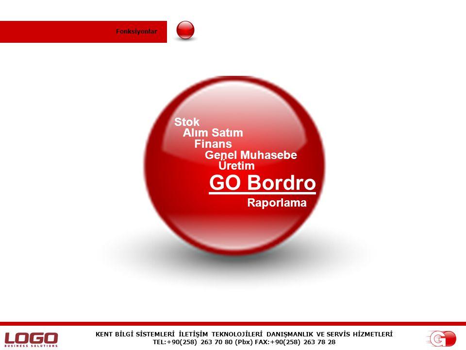 GO Bordro Stok Alım Satım Finans Genel Muhasebe Üretim Raporlama