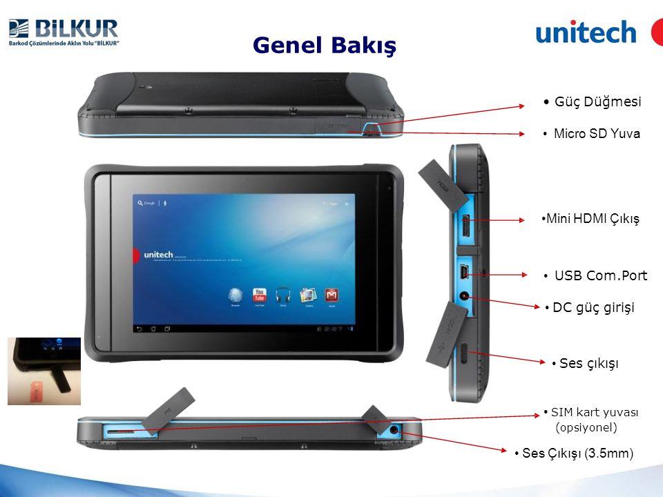 Genel Bakış • Power Key • Güç Düğmesi • Micro SD Yuva •Mini HDMI Çıkış