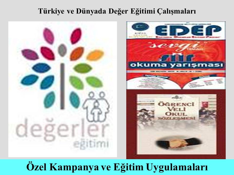 Türkiye ve Dünyada Değer Eğitimi Çalışmaları