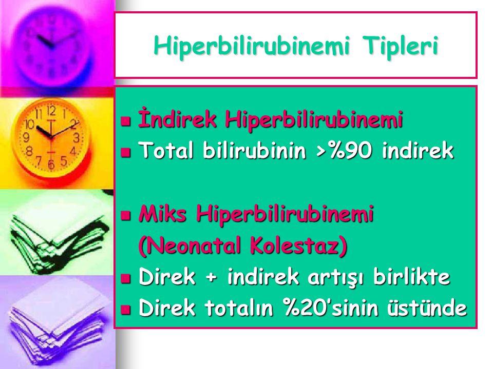 Hiperbilirubinemi Tipleri