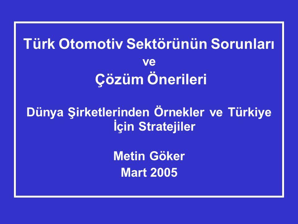 Türk Otomotiv Sektörünün Sorunları