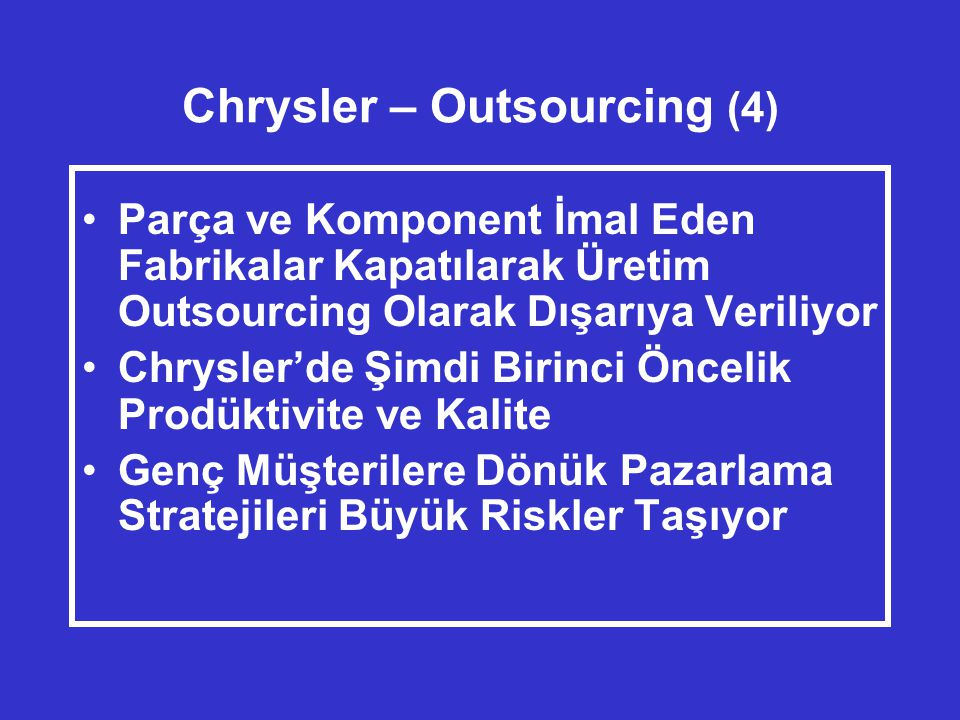 Chrysler – Outsourcing (4)