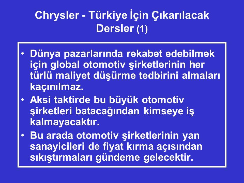 Chrysler - Türkiye İçin Çıkarılacak Dersler (1)