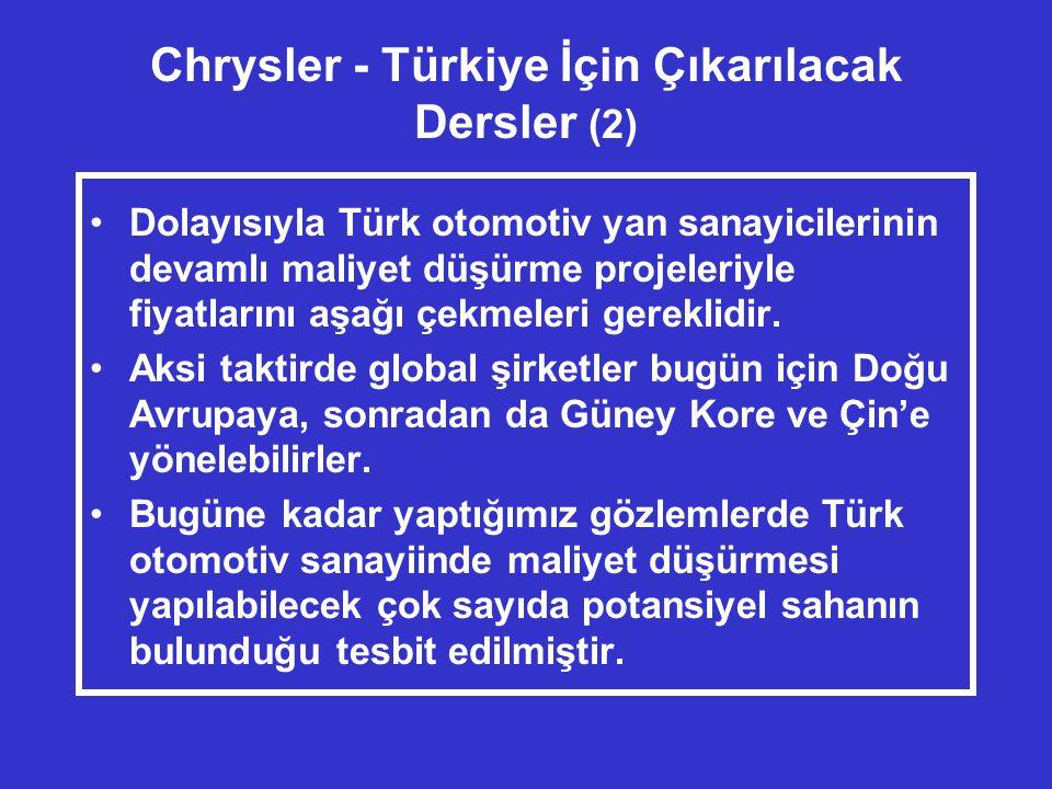 Chrysler - Türkiye İçin Çıkarılacak Dersler (2)