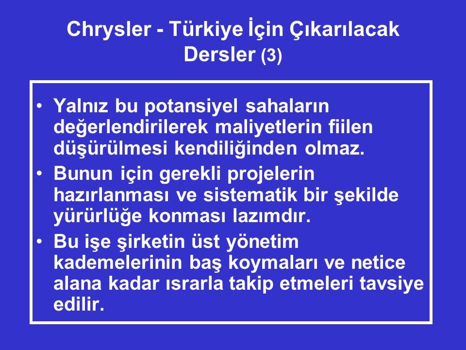 Chrysler - Türkiye İçin Çıkarılacak Dersler (3)