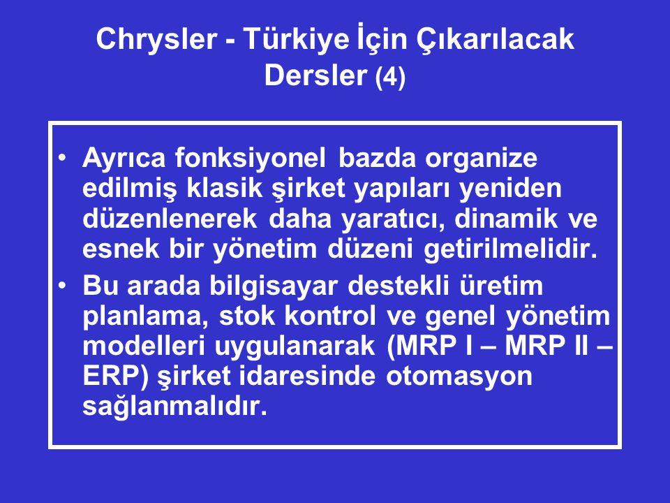 Chrysler - Türkiye İçin Çıkarılacak Dersler (4)