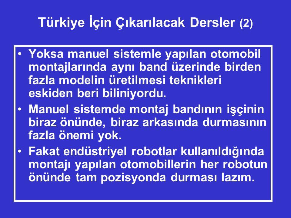 Türkiye İçin Çıkarılacak Dersler (2)