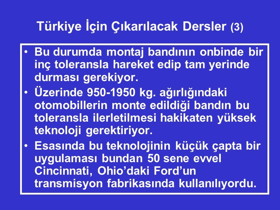 Türkiye İçin Çıkarılacak Dersler (3)