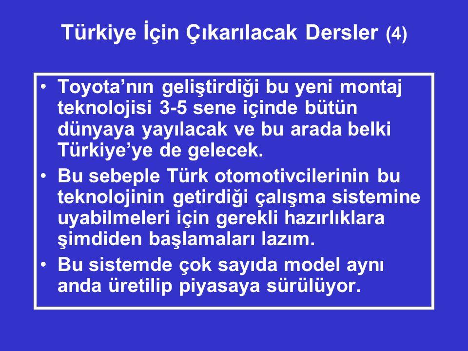 Türkiye İçin Çıkarılacak Dersler (4)