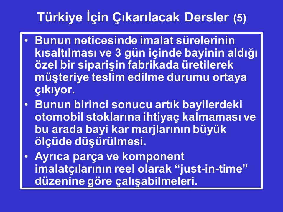 Türkiye İçin Çıkarılacak Dersler (5)