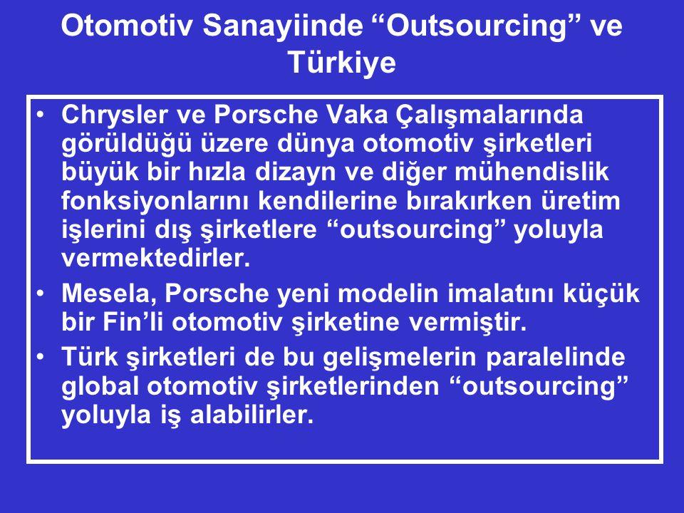Otomotiv Sanayiinde Outsourcing ve Türkiye