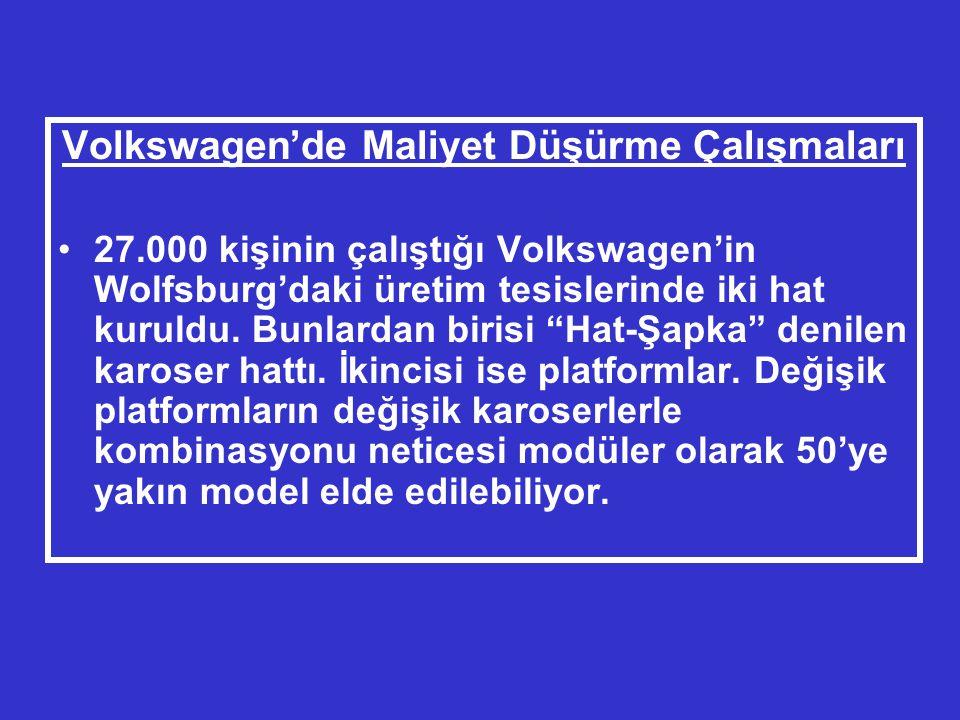 Volkswagen'de Maliyet Düşürme Çalışmaları