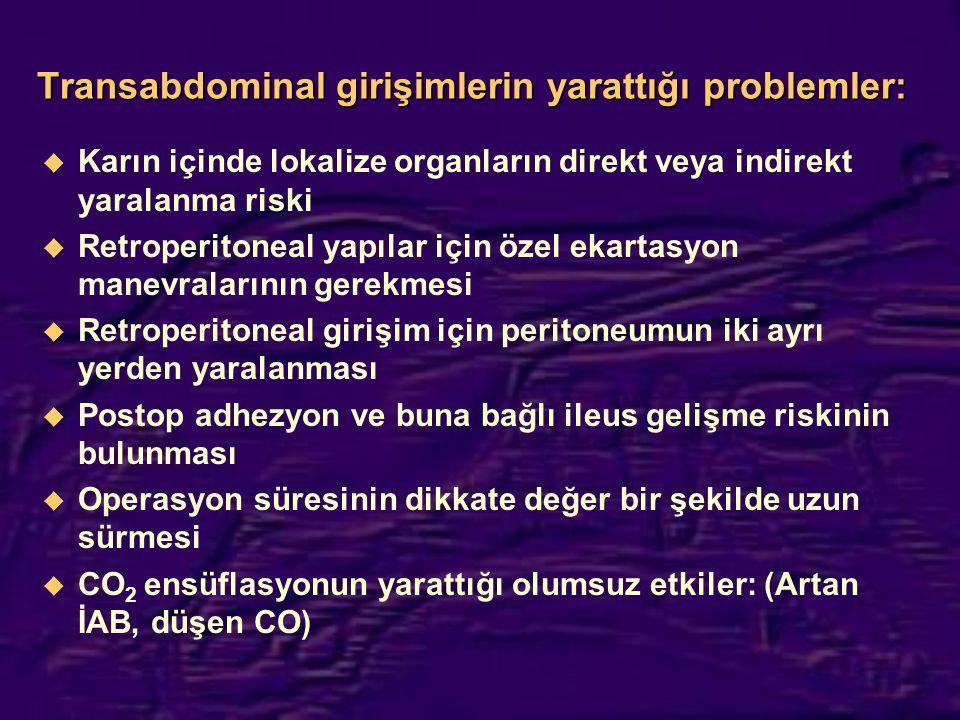 Transabdominal girişimlerin yarattığı problemler: