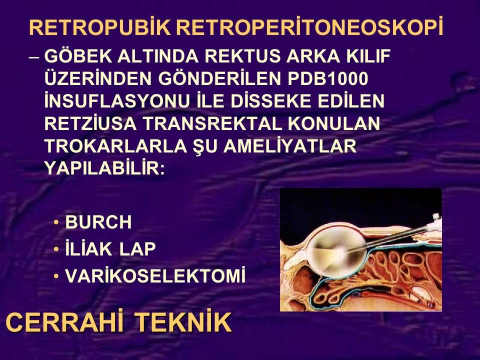 RETROPUBİK RETROPERİTONEOSKOPİ